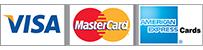 Acceptam Visa, Mastercard, American Express